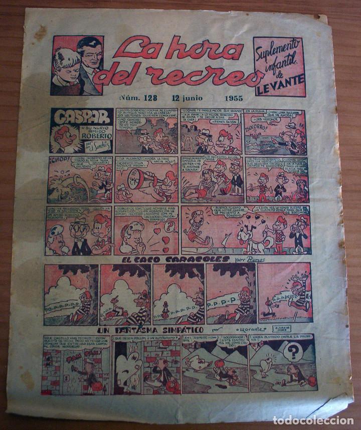 LA HORA DEL RECREO - SUPLEMENTO INFANTIL DE LEVANTE - NÚM. 128 - AÑO 1955 (Tebeos y Comics - Suplementos de Prensa)