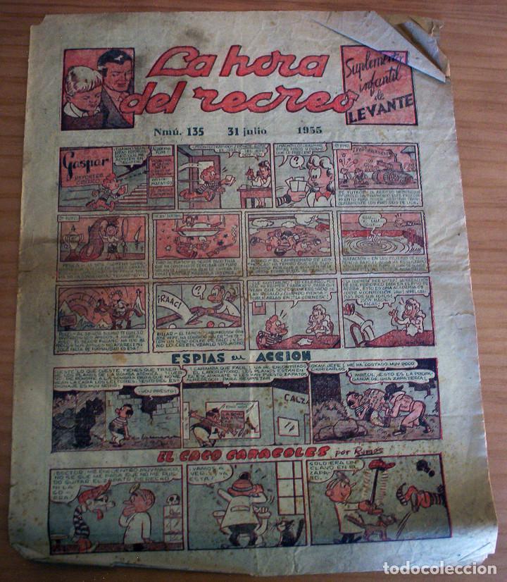 LA HORA DEL RECREO - SUPLEMENTO INFANTIL DE LEVANTE - NÚM. 135 - AÑO 1955 (Tebeos y Comics - Suplementos de Prensa)