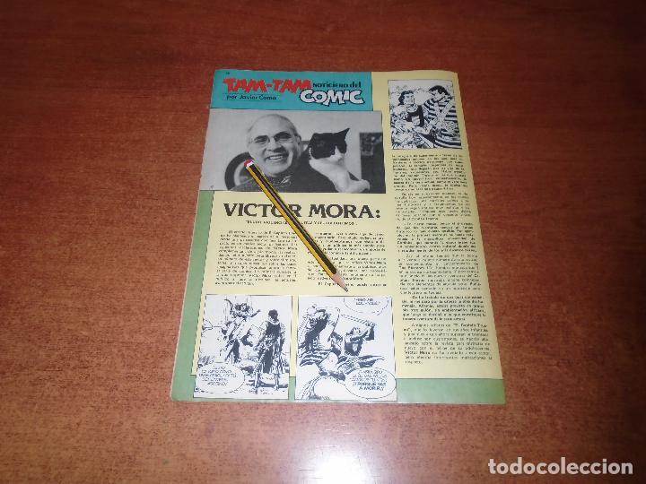 ENTREVISTA A VÍCTOR MORA (EL CAPITÁN TRUENO) AÑO 1986 (Tebeos y Comics - Suplementos de Prensa)