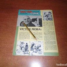 Cómics: ENTREVISTA A VÍCTOR MORA (EL CAPITÁN TRUENO) AÑO 1986. Lote 156671838