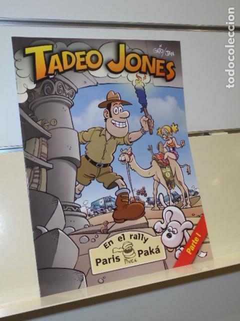 TADEO JONES EN EL RALLY PARIS PAKA PARTE I DE GATO Y JAN - ED. ESPECIAL SUPLEMENTO DE PRENSA - (Tebeos y Comics - Suplementos de Prensa)
