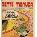 Cómics: GENTE MENUDA. Nº 40. SUPLEMENTO ¨LOS DOMINGOS DE A B C ¨. (ST/C86). Lote 160840994