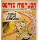 Cómics: GENTE MENUDA. Nº 40. SUPLEMENTO ¨LOS DOMINGOS DE A B C ¨. (ST/C86). Lote 160841078