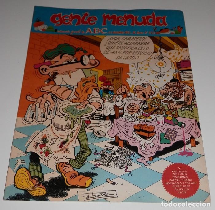 GENTE MENUDA Nº 213 - SUPLEMENTO DE ABC (Tebeos y Comics - Suplementos de Prensa)