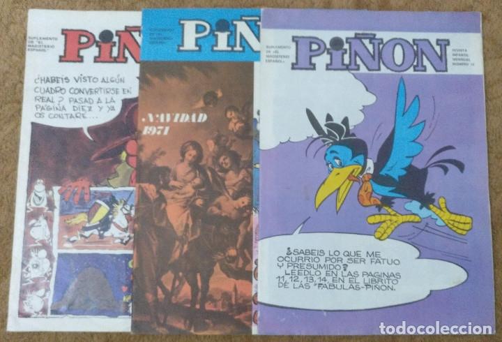 PIÑON Nº 19, 30 Y 34 (MAGISTERIO ESPAÑOL 1970/71/72) (Tebeos y Comics - Suplementos de Prensa)