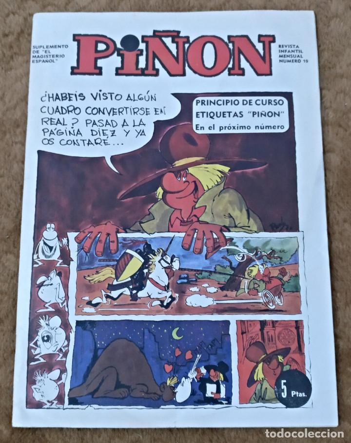 Cómics: PIÑON nº 19, 30 y 34 (Magisterio español 1970/71/72) - Foto 2 - 142324694