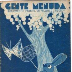 Cómics: GENTE MENUDA - SUPLEMENTO INFANTIL DE BLANCO Y NEGRO - 7 DE MAYO DE 1933.. Lote 169291848