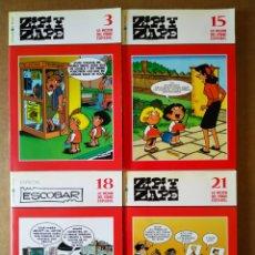 Cómics: LOTE LO MEJOR DEL CÓMIC ESPAÑOL: ZIPI Y ZAPE, NÚMEROS 3-9-15-18-21 (EL MUNDO, 2006). COMPLETA.. Lote 176266809