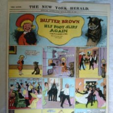 Comics: BUSTER BROWN HIS FOOT SLIPS AGAIN, THE NEW YORK HERALD · GRAN TAMAÑO · REEDICIÓN AÑOS 80S. Lote 178689188