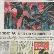 Cómics: TEBEOS Y COMICS EN LA PRENSA: BATMAN, CARLOS GIMENEZ, EL HOMBRE ENMASCARADO, ASTERIX, CORTO MALTES. Lote 179207942