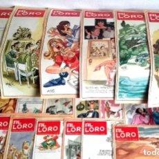 Cómics: LOTE 19 NÚMEROS SEMANARIO AL LORO SUPLEMENTO ABC MINGOTE HUMOR LEER LISTADO AÑOS 1984 1985. Lote 182574676