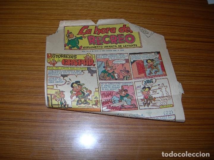 LA HORA DEL RECREO Nº 475 EDITA LEVANTE (Tebeos y Comics - Suplementos de Prensa)