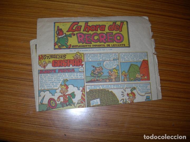LA HORA DEL RECREO Nº 511 EDITA LEVANTE (Tebeos y Comics - Suplementos de Prensa)
