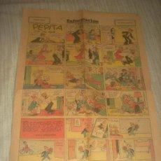 Cómics: INFORMACION , EL PERIODICO DE TODOS . SUPLEMENTO DOMINICAL. PAGINAS COMICAS.4 PAGINAS. Lote 183466532
