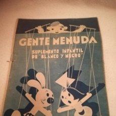 Cómics: GENTE MENUDA. SUPLEMENTO INFANTIL DE BLANCO Y NEGRO. 12 MAYO 1935. Lote 184388788