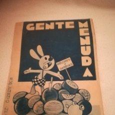 Cómics: GENTE MENUDA. SUPLEMENTO INFANTIL DE BLANCO Y NEGRO. 22 SEPTIEMBRE 1935. Lote 184388866