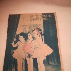 Cómics: GENTE MENUDA. SUPLEMENTO INFANTIL DE BLANCO Y NEGRO. 18 AGOSTO 1935. Lote 184389015