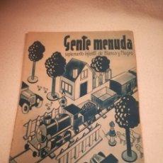 Cómics: GENTE MENUDA. SUPLEMENTO INFANTIL DE BLANCO Y NEGRO. 10 SEPTIEMBRE 1933. Lote 184390462