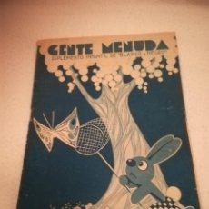 Cómics: GENTE MENUDA. SUPLEMENTO INFANTIL DE BLANCO Y NEGRO. 7 MAYO 1933. Lote 184390968