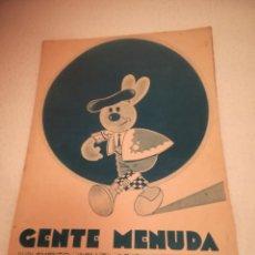 Cómics: GENTE MENUDA. SUPLEMENTO INFANTIL DE BLANCO Y NEGRO. 17 MARZO 1935. Lote 184391493