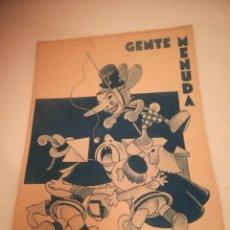 Cómics: GENTE MENUDA. SUPLEMENTO INFANTIL DE BLANCO Y NEGRO. 3 MARZO 1935. Lote 184391521