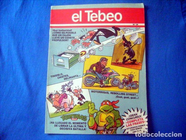 COMIC EL TEBEO SUPLEMENTO DE EL PERIODICO Nº 34 REBOLLING STREET MOTORRISAS TINIEBLO LALOSA (Tebeos y Comics - Suplementos de Prensa)