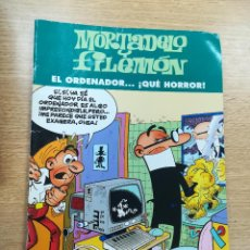 Cómics: MORTADELO Y FILEMON EL ORDENADOR QUE HORROR. Lote 191295777