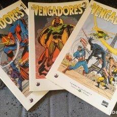 Fumetti: LOS VENGADORES COMPLETA (BIBLIOTECA EL MUNDO - GRANDES HÉROES DEL CÓMIC) Nº 1, 2 Y 3. Lote 192959135