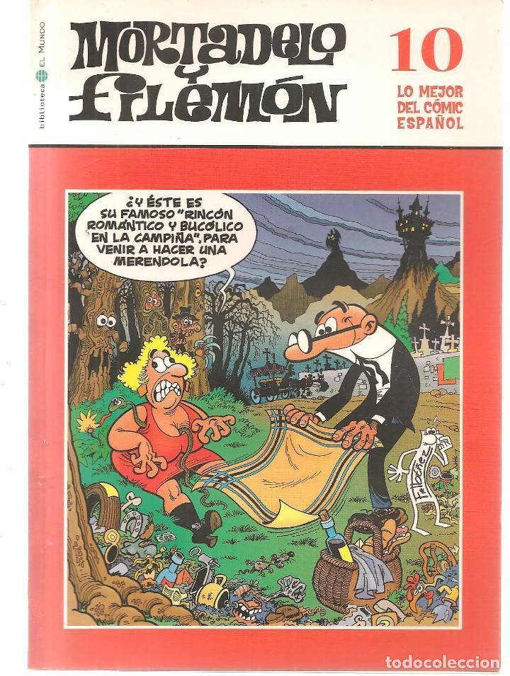 BIBLIOTECA EL MUNDO. LO MEJOR DEL COMIC ESPAÑOL. Nº 10. MORTADELO Y FILEMÓN. (ST/S) (Tebeos y Comics - Suplementos de Prensa)