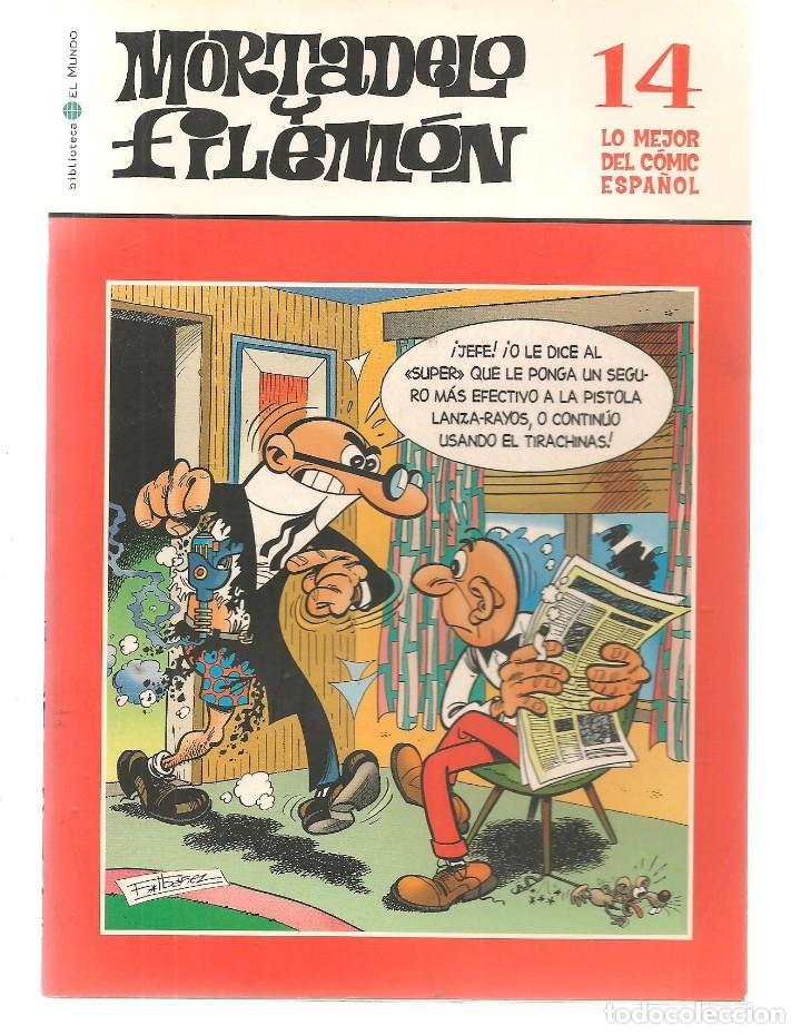 BIBLIOTECA EL MUNDO. LO MEJOR DEL COMIC ESPAÑOL. Nº 14. MORTADELO Y FILEMÓN. (ST/S) (Tebeos y Comics - Suplementos de Prensa)