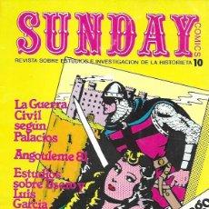 Cómics: SUNDAY. AYUSO 1976. REVISTA SOBRE ESTUDIOS E INVESTIGACIÓN DE LA HISTORIETA. Nº 10. Lote 194682443