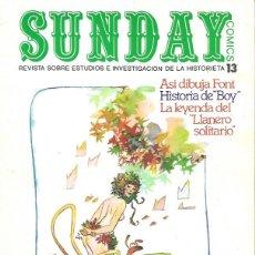 Cómics: SUNDAY. AYUSO 1976. REVISTA SOBRE ESTUDIOS E INVESTIGACIÓN DE LA HISTORIETA. Nº 13. Lote 194682452