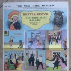 Cómics: BUSTER BROWN HIS FOOT SLIPS AGAIN. THE NEW YORK HERALD. GRAN TAMAÑO. REEDICIÓN EN CASTELLANO AÑOS 80. Lote 194711693