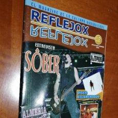 Cómics: REFLEJOX 18. MAGAZINE. REVISTA ALMERIENSE. SOBRE MÚSICA. GRAPA. DIFICIL. Lote 195435110