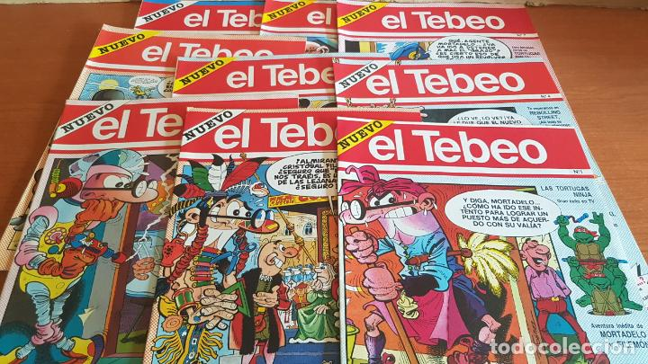 EL TEBEO - EDITADO POR EL PERIÓDICO - AÑO 1991 / NUMS . 1 AL 9 / NUEVOS Y PERFECTOS. (Tebeos y Comics - Suplementos de Prensa)