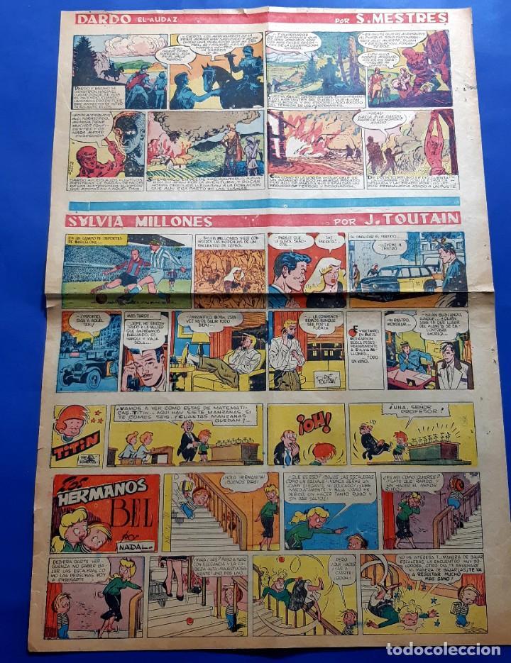 Cómics: SUPLEMENTO DE LA PRENSA Nº 8 - año 1953 PEÑARROYA-VICTOR MORA...GRAN FORMATO DESPLEGADO-39 x 69 cms - Foto 3 - 217911825