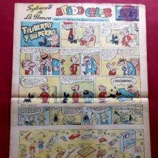 Fumetti: SUPLEMENTO DE LA PRENSA Nº 7 - AÑO 1952.GRAN FORMATO DESPLEGADO-39 X 69 CMS. Lote 217912383