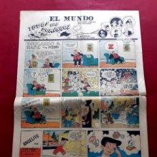 Cómics: EL MUNDO SECCION COMICA -A- EXCELENTE ESTADO 1954- 37 X 55 CMS. Lote 217915618