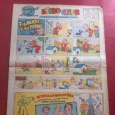 Cómics: SUPLEMENTO DE LA PRENSA Nº 16 AÑO 1953-GRAN FORMATO DESPLEGADO-39 X 69 CMS. Lote 218411233