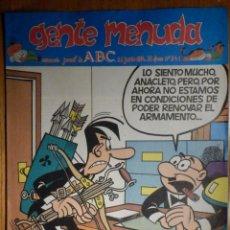 Cómics: GENTE MENUDA Nº 241 - CONAN, ZIPI Y ZAPE, CAPITÁN TRUENO, MORTADELO Y FILEMÓN. SUPERLOPEZ, SPIDERMAN. Lote 238712960
