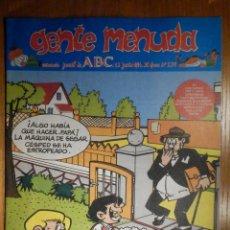 Cómics: GENTE MENUDA Nº 239 - CONAN, ZIPI Y ZAPE, CAPITÁN TRUENO, MORTADELO Y FILEMÓN. SUPERLOPEZ, SPIDERMAN. Lote 238712990