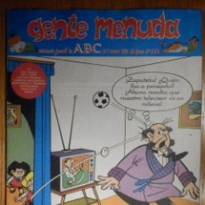 Cómics: GENTE MENUDA Nº 228 - CONAN, ZIPI Y ZAPE, CAPITÁN TRUENO, MORTADELO Y FILEMÓN. SUPERLOPEZ, SPIDERMAN. Lote 238782735
