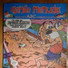 Cómics: GENTE MENUDA Nº 95 - CONAN, ZIPI Y ZAPE, CAPITÁN TRUENO, MORTADELO Y FILEMÓN. SUPERLOPEZ, SPIDERMAN. Lote 238786760