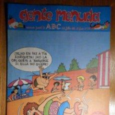 Cómics: GENTE MENUDA Nº 89 - CONAN, ZIPI Y ZAPE, CAPITÁN TRUENO, MORTADELO Y FILEMÓN. SUPERLOPEZ, SPIDERMAN. Lote 238802050