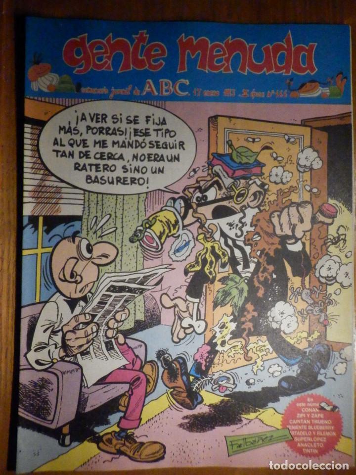 GENTE MENUDA Nº 166 - CONAN, ZIPI Y ZAPE, CAPITÁN TRUENO, MORTADELO Y FILEMÓN. SUPERLOPEZ, SPIDERMAN (Tebeos y Comics - Suplementos de Prensa)