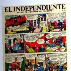 Cómics: COMIC LOTE DIARIO. EL INDEPENDIENTE Nº24.BATMAN ROBIN.COMIC ADHESIVO VIÑETAS. DC COMICS VINTAGE. Lote 245023865
