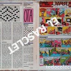 Cómics: ANTIGÜO COMIC SUPLEMENTO DEL DIARIO AVUI - DEL 14-10- 1984. Lote 245087135