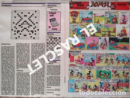 ANTIGÜO COMIC SUPLEMENTO DEL DIARIO AVUI - DEL 11-11- 1984 (Tebeos y Comics - Suplementos de Prensa)