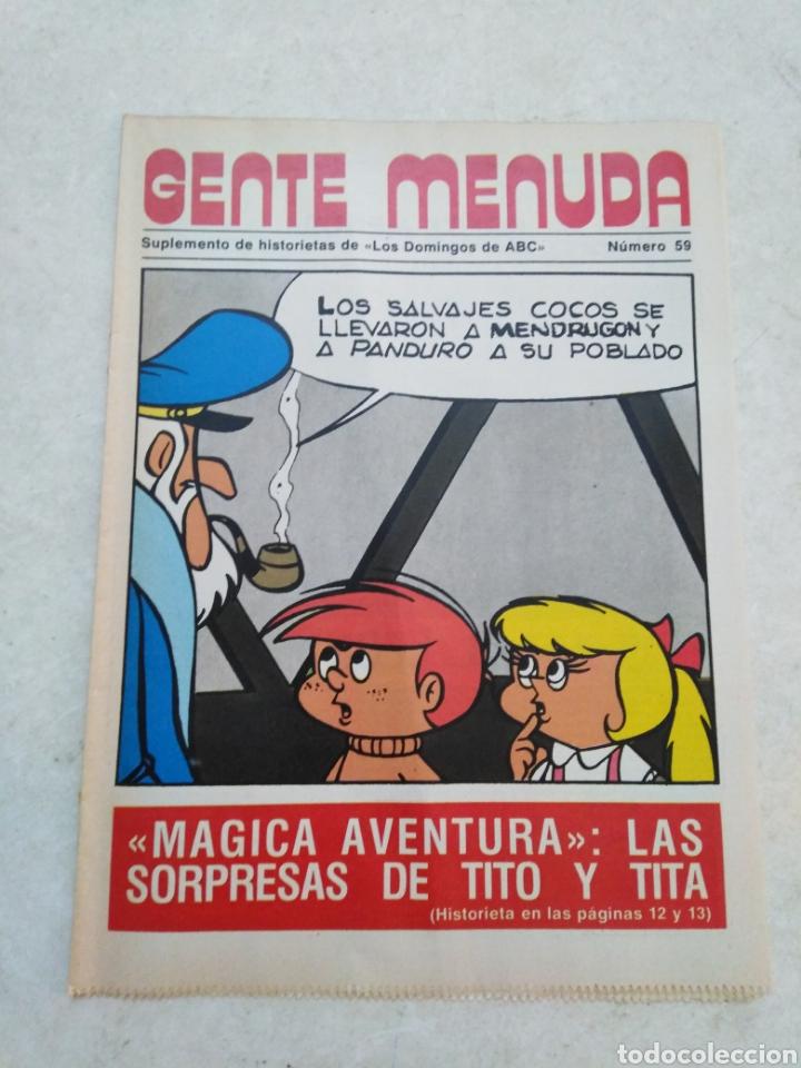 Cómics: Lote de 39 Gente menuda , suplementos de historietas de los domingos de Abc ( TODOS TRAEN PÓSTER ) - Foto 28 - 261281160