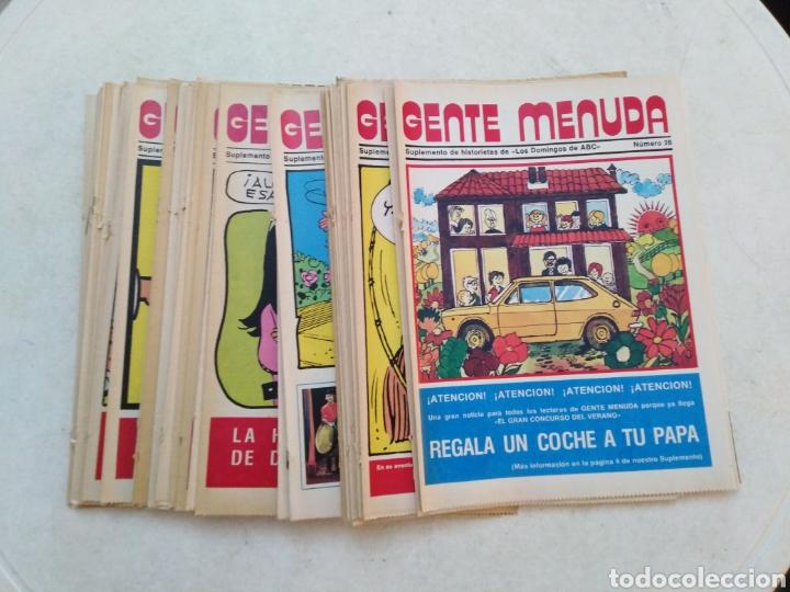 LOTE DE 39 GENTE MENUDA , SUPLEMENTOS DE HISTORIETAS DE LOS DOMINGOS DE ABC ( TODOS TRAEN PÓSTER ) (Tebeos y Comics - Suplementos de Prensa)